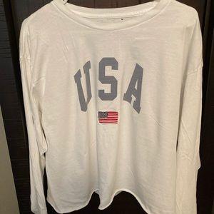 Women's long sleeve USA John Galt shirt